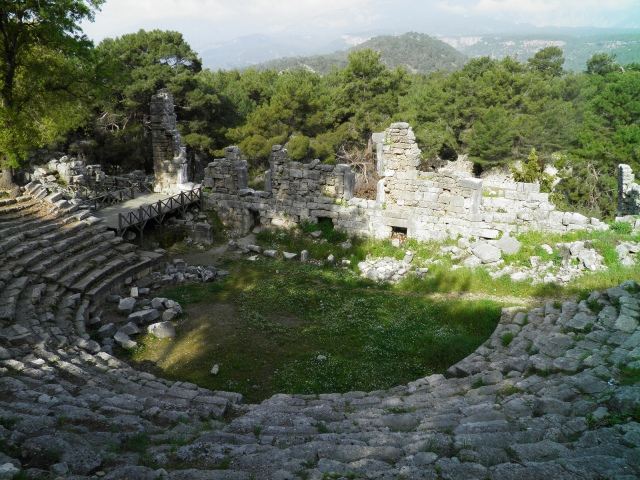 The Roman theatre, built in the 2nd century on the foundations of the earlier Greek Hellenistic theatre, Phaselis © Carole Raddato