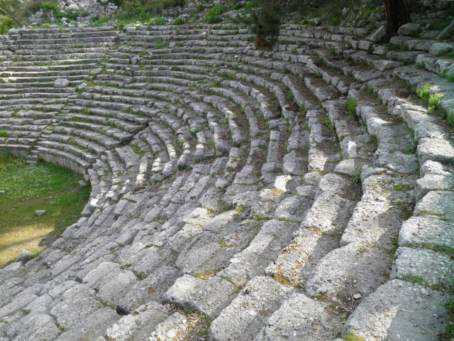 The cavea of the Roman theatre, Phaselis © Carole Raddato