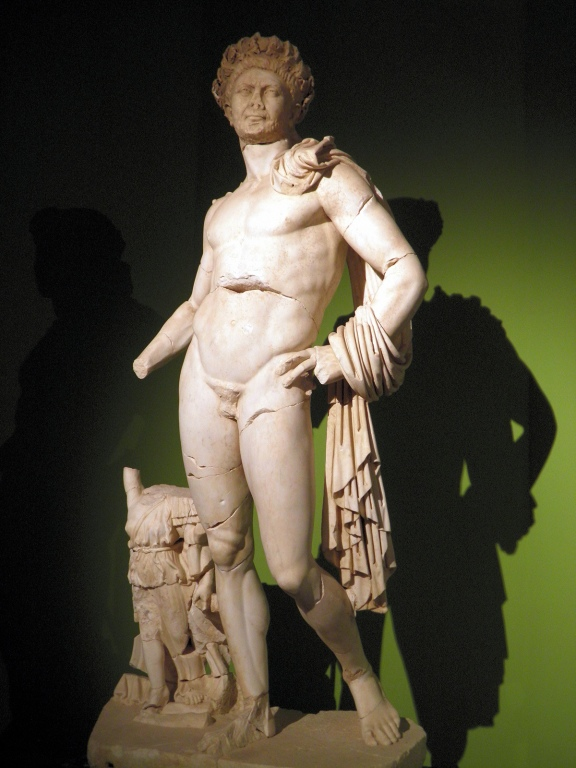 Naked statue of Hadrian wearing the Corona Civica, from Perga, Antalya Museum Carole Raddato
