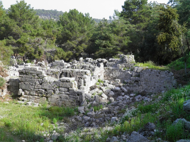 The small baths, built in the late period 3rd-4th century AD, Phaselis © Carole Raddato