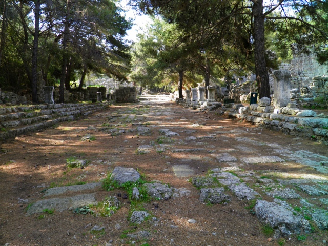 The main street, Phaselis © Carole Raddato