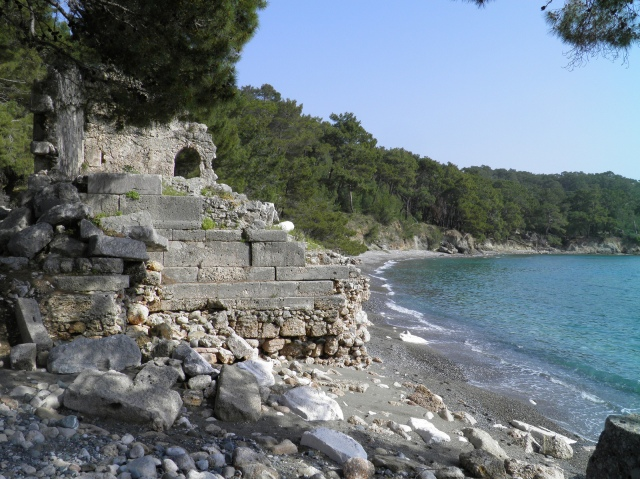 The necropolis and the northern harbour, Phaselis © Carole Raddato