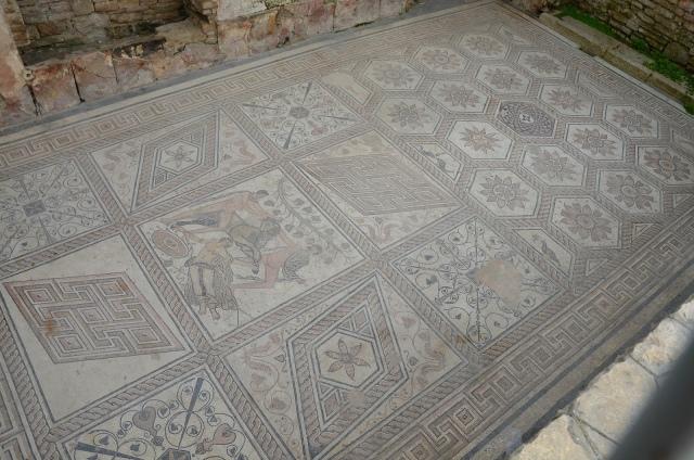 The Punishment of Dirce mosaic, Pula © Carole Raddato