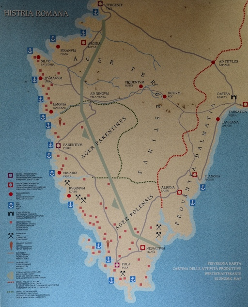 Economic map of Histria Romana