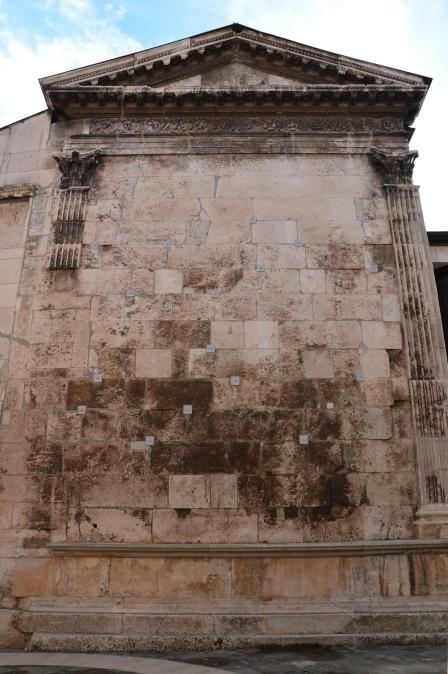 The back of the Temple of Diana, Pula © Carole Raddato