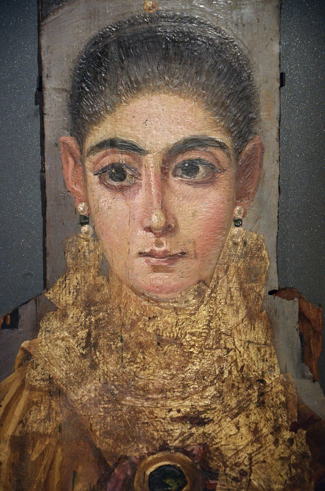 Portrait Ofa Girl 14 Years In Nature Stock Image: Painted Portrait Of A Woman From Antinoopolis, Egypt