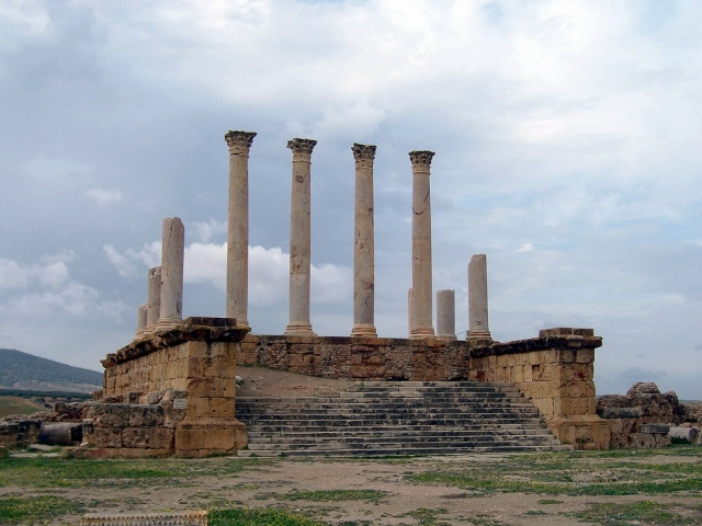 The Capitolium at Thuburbo Majus Carole Raddato