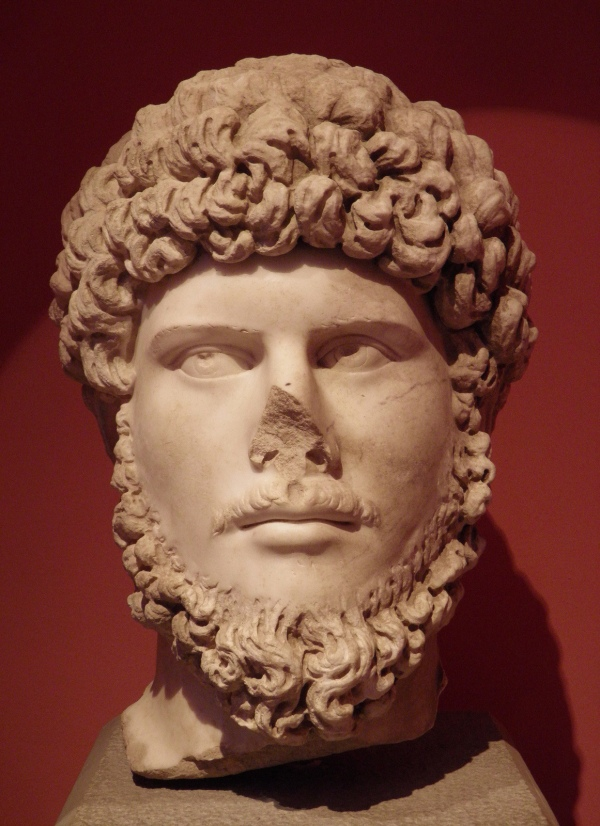 Marble head of Lucius Verus From Perge Antalya Museum © Carole Raddato