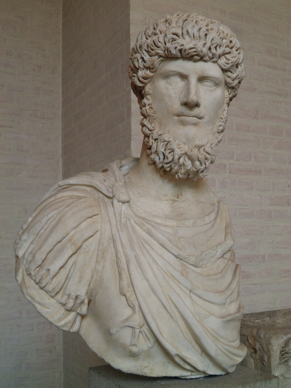 Marble bust of Lucius Verus Glyptothek Museum, Munich © Carole Raddato