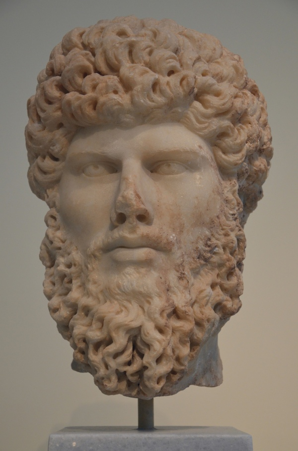 Portrait head of co-emperor Lucius Verus, found in Athens, 161-169 AD, National Archaeological Museum of Athens © Carole Raddato