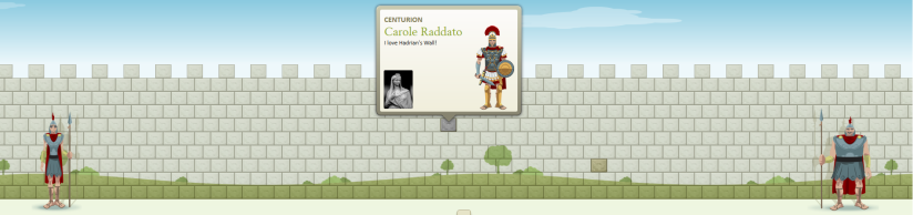 My stone in Hadrian's virtual Wall.