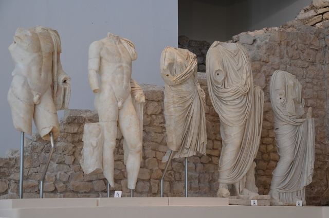 From left to right: Lucius Caesar, Gaius Caesar, Julia, Agrippa and Antonia Minor, Archaeological museum Narona © Carole Raddato