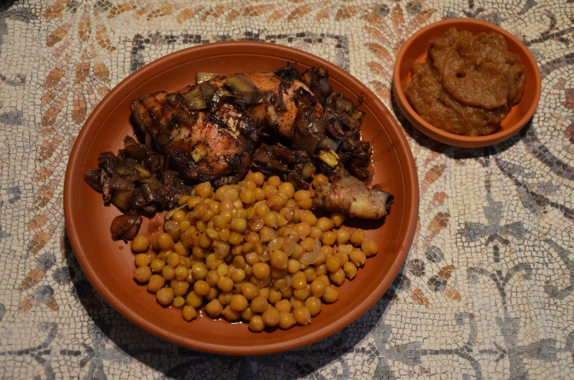 Parthian Chicken & Chickpeas accompanied with Date Paste © Carole Raddato