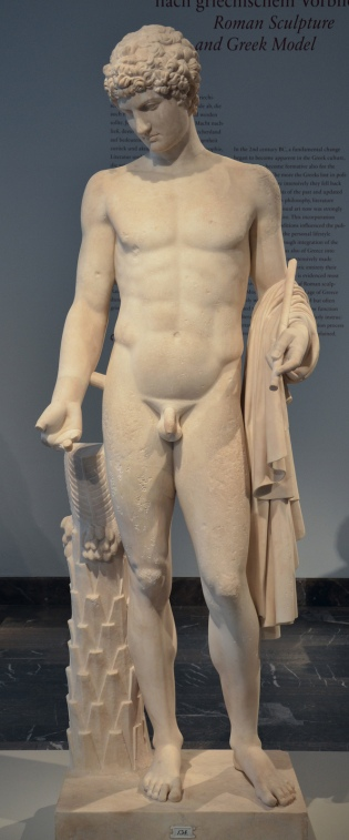 Torso of the so-called Omphalos Apollo, Amended as Antinous, Altes Museum