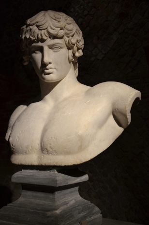 Bust of Antinous, from Patras, AD 130-140, National Archaeological Museum of Athens