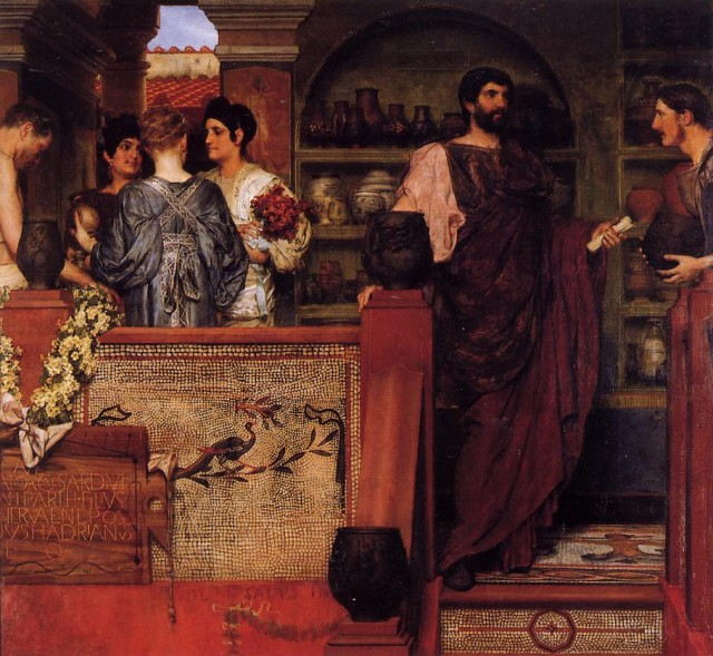Hadrian Visiting A Romano British Pottery, 1884 Oil on canvas (cut and repainted), Stedelijk Museum (Amsterdam, Netherlands) This artwork is in the public domain