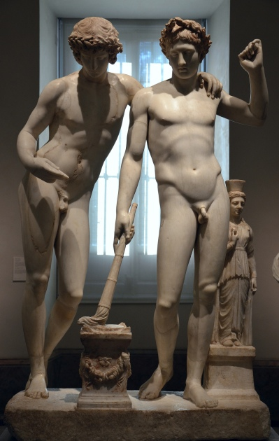 The Orestes and Pylades group (also known as San Ildefonso Group), around 10 BC, found in Rome, Museo del Prado, Madrid