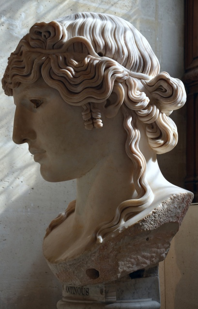 Antinous Mondragone, c. 130 AD, from the Mondragone villa in Frascati (Italy), owned by the Borghese family, Louvre Museum, Paris