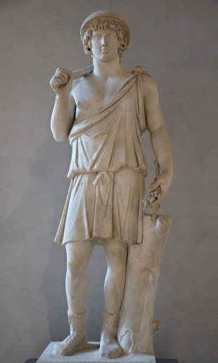 Antinous as Aristaeus, god of the shepherds and cheese-making, bee-keeping, Louvre Museum, Paris