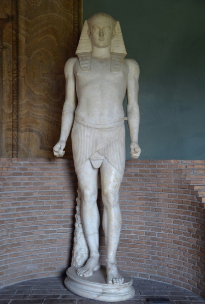 Statue of Antinous as Osiris, 131-138 AD, probably found in the Antinoeion at Hadrian's Villa (a sanctuary dedicated to Antinous), Vatican Museums