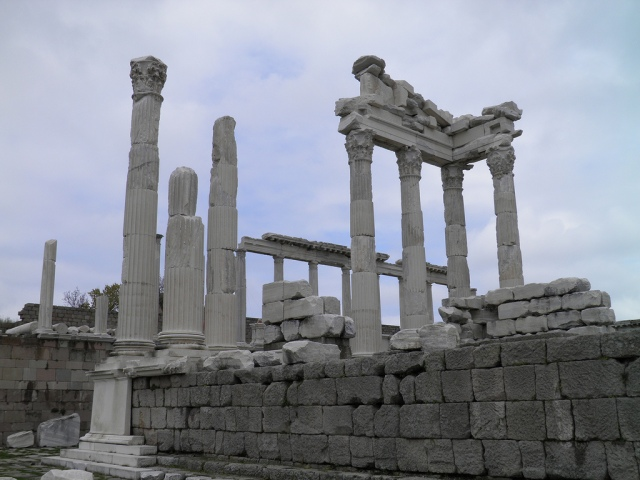 West flank of the Temple of Trajan, Upper Acropolis, Pergamon © Carole Raddato