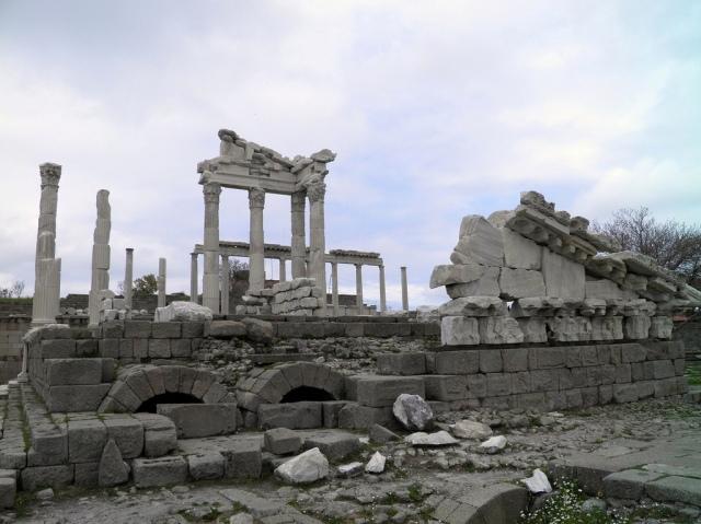 Peripteral hexastyle Temple of Trajan, Upper Acropolis, Pergamon © Carole Raddato