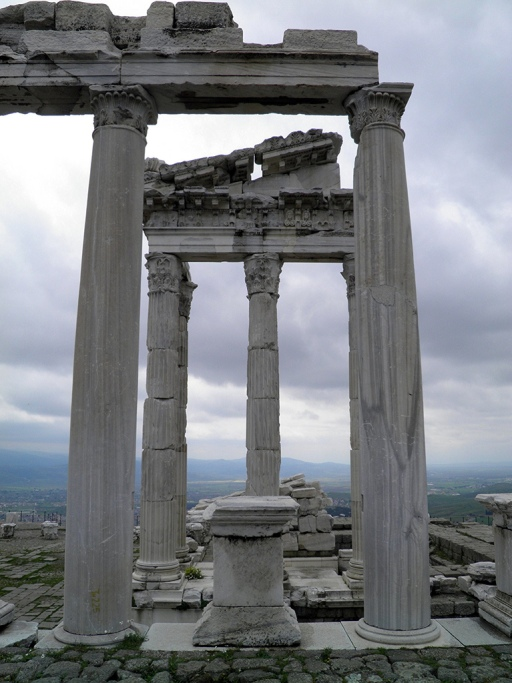 The Temple of Trajan, view from the North portico, Upper Acropolis, Pergamon © Carole Raddato