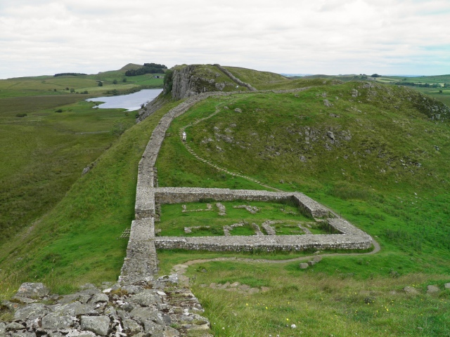 Hadrian's Wall, the remains of Milecastle 39, near Steel Rigg © Carole Raddato