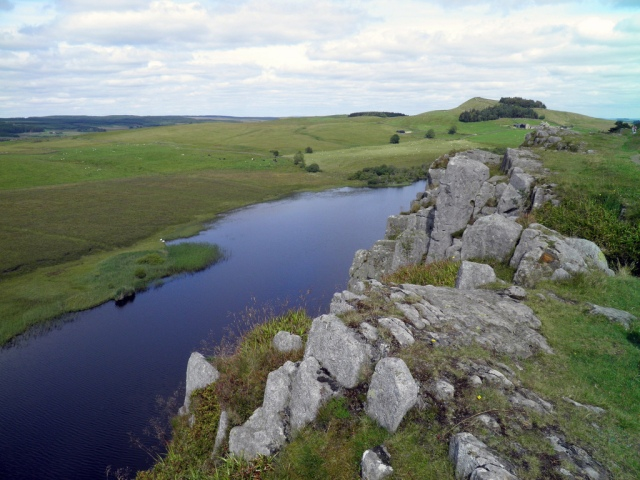 Hadrian Wall, Highshield Crags and Crag Lough, an inland lake along Hadrian's Wall, at the foot of a line of crags © Carole Raddato