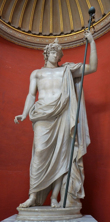 Antinous with the attributes of Bacchus, Antinous Braschi, Vatican Museums