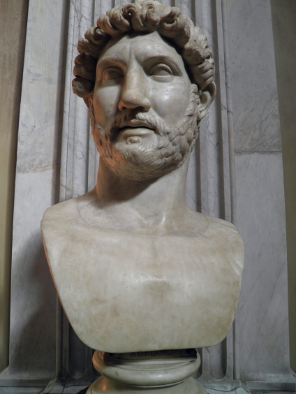 Bust of Hadrian (Chiaramonti 392 type), from Hadrian's Mausoleum, possibly created following the emperor's death in 138 AD, Vatican Museums
