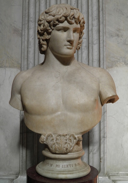 Bust of Antinous, found at Hadrian's Villa in 1790, Vatican Museums