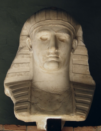 Bust of Antinous as Osiris, from Hadrian's Villa, 131-138 AD, Vatican Museums