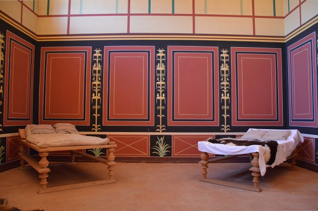 The reconstructed laconicum (resting room) next to the hot bath, Villa Borg © Carole Raddato