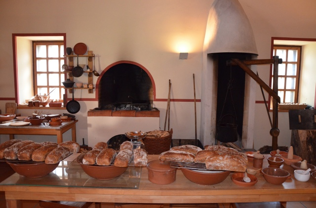 The reconstructed Roman kitchen (culina), Villa Borg © Carole Raddato