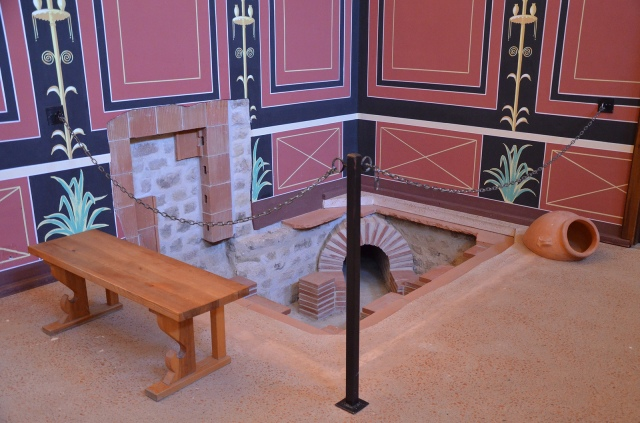 The reconstructed hypocaust in the resting room next to the baths, Villa Borg © Carole Raddato