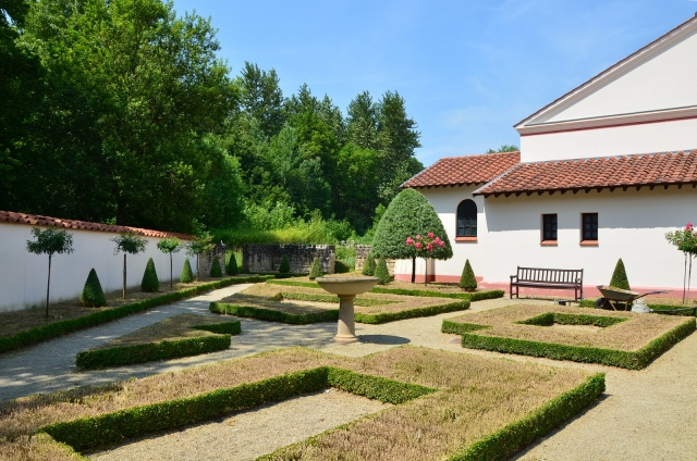 One of the reconstructed garden, Villa Borg © Carole Raddato