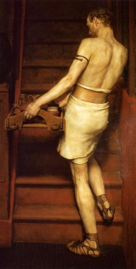 The Roman Potter, fragment of 'Hadrian Visiting a Romano-British Potter', 1884 (oil on canvas), Alma-Tadema, Sir Lawrence (1836-1912) / Musee d'Orsay, Paris, France / Roger-Viollet, Paris / The Bridgeman Art Library