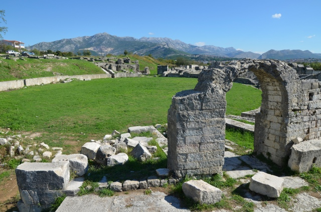 The Roman amphitheatre, the south side looking east, Salona © Carole Raddato