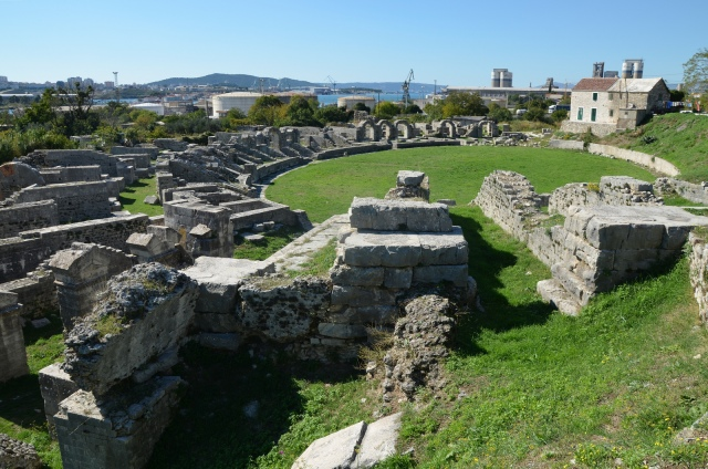 The Roman amphitheatre, the south side, looking west, Salona © Carole Raddato
