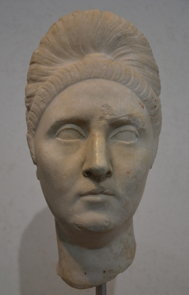 Bust of Pompeia Plotina, from the Baths of Nepture at Ostia, 110-120 AD, Palazzo Massimo alle Terme, Rome