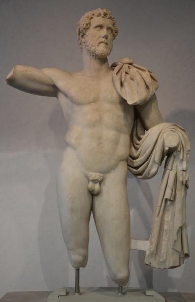 Marble statue of Antoninus Pius found in Terracina (Italy), Palazzo Massimo alle Terme, Rome