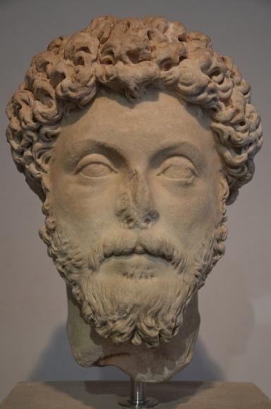 Marcus Aurelius, from Villa Adriana (Hadrian's Villa), 160-169 AD, Palazzo Massimo alle Terme, Rome