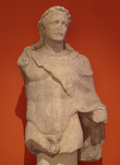 Trajan as Hercules, exhibited at the Caput Mundi exhibition in the Colosseum (2012-2013), on loan from Palazzo Massimo alle Terme, Rome
