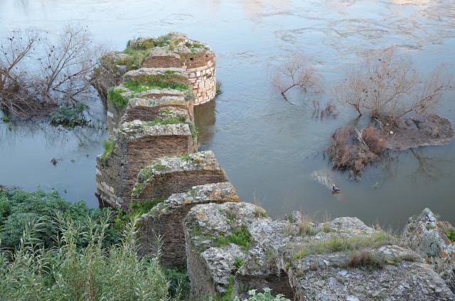 Late Roman period Pier Bridge of Myrtilis (Mértola), Lusitania, Portugal © Carole Raddato