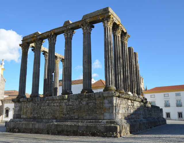 The Roman Temple of Évora, overview from the north-western corner, Ebora, Lusitania, Portugal © Carole Raddato