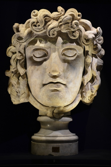Gorgon's head, from the Temple of Venus and Roma in Rome, 2nd century AD, Monsters. Fantastic Creatures of Fear and Myth Exhibition, Palazzo Massimo, Rome © Carole Raddato