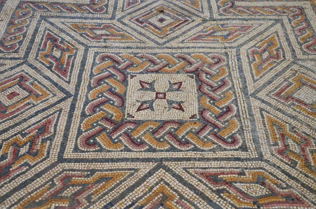 Mosaic floor in the House of the Swastika, Conimbriga, Lusitania, Portugal © Carole Raddato