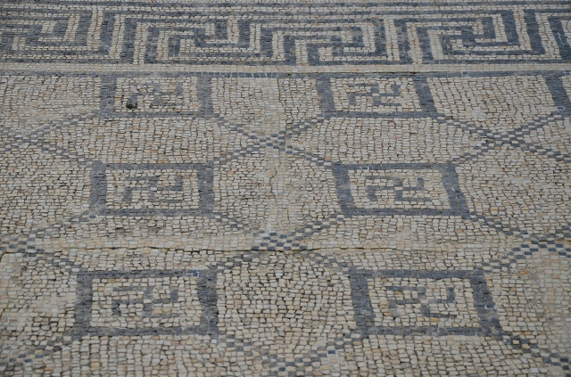Mosaic floor in the House of the Swastika with swastika motifs, Conimbriga, Lusitania, Portugal © Carole Raddato