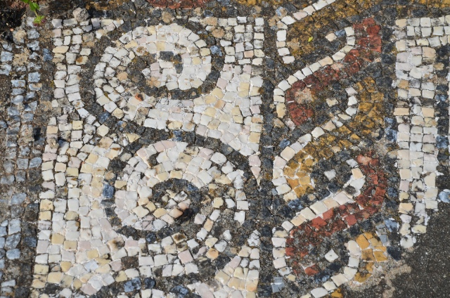 Mosaic floor with geometric motifs, Roman Villa of Pisões, Lusitania, Portugal © Carole Raddato